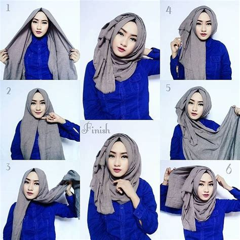 tutorial hijab simple buat kerja tutorial hijab segi empat paris simple dan modis terbaru
