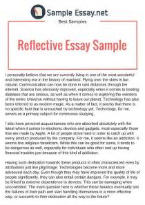 personal experiences essay reflective essay exles amitdhull co