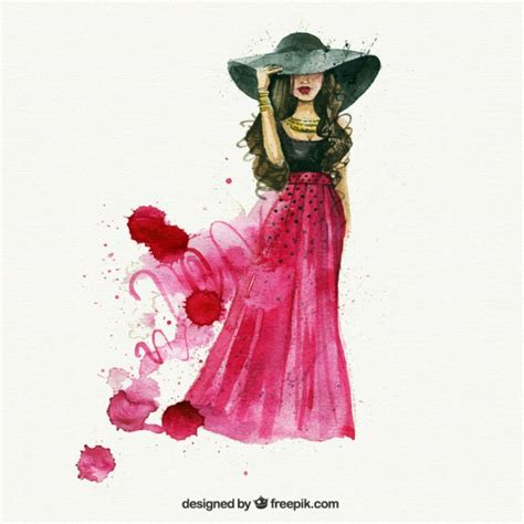 fashion pattern freepik watercolor fashion woman vector premium download