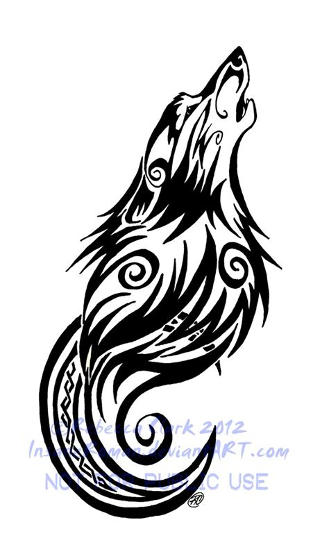 swirl design tattoos tribal swirls wolf and moon by insaneroman on
