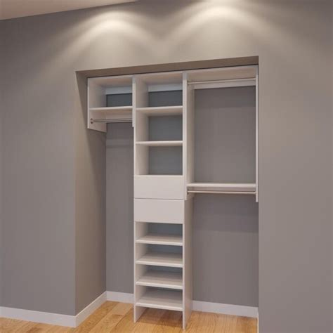 shop modular closets  ft plywood closet storage organizer system  sale  shipping