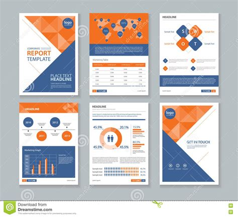 layout of cover page of a report page cover brochure flyer report layout design template