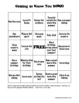 icebreaker bingo card template great idea could be modified for different ages bingo