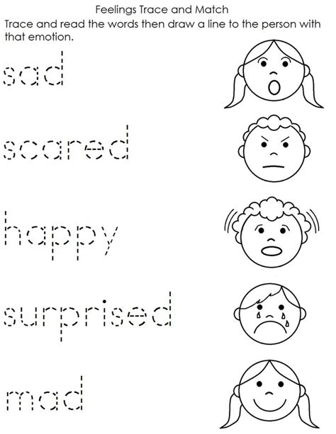 preschool printable worksheets emotions a child s place feelings worksheet kindergarten ideas