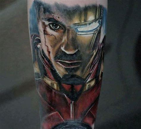 marvel tattoos men superhero comic design ideas