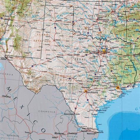 interactive texas map large texas maps for free and print high resolution and detailed maps