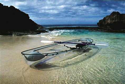 clear kayak paddle in a transparent kayak myholidayguru