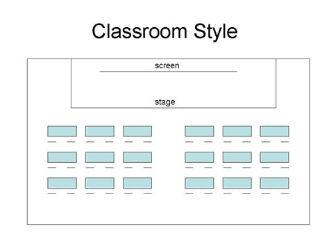 classroom layout ppt room layout a to z of business presentations