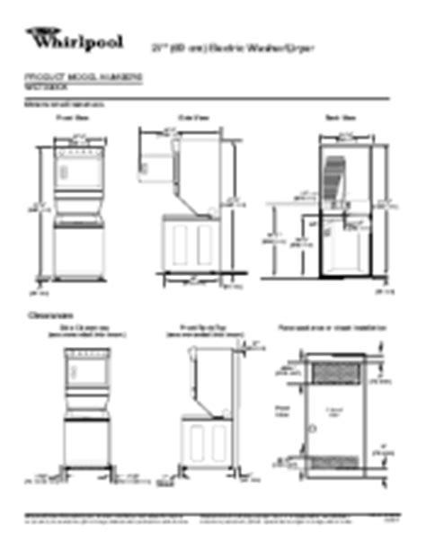 dimensions of whirlpool duet washer and dryer types of stack transporting a whirlpool stacked washer and dryer whirlpool wet3300xq support