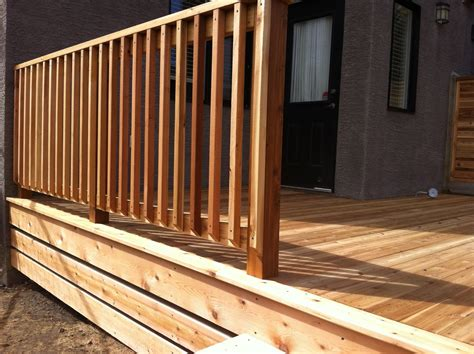 deck railing baluster designs cement patio getting the