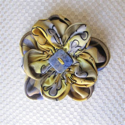 Handmade Flower Brooches - silk flower brooch flower pin handmade lapel pin scarf