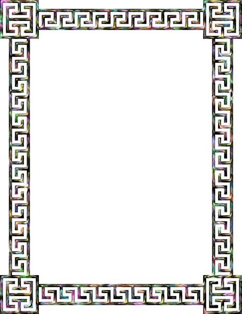 greek pattern frame clipart greek key frame 8