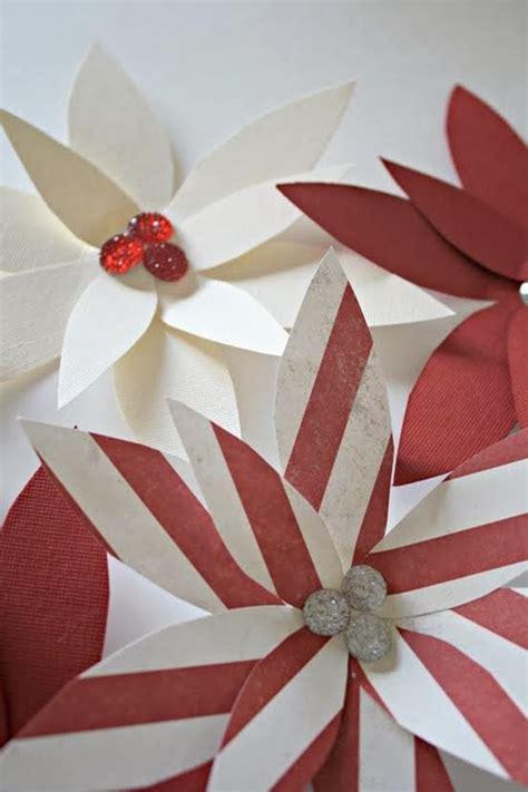 Paper Poinsettia Craft - paper poinsettia ornament tutorial u create