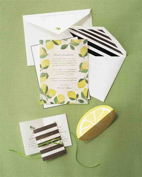 lemon themed wedding invitations a lemon themed wedding celebration in st louis martha