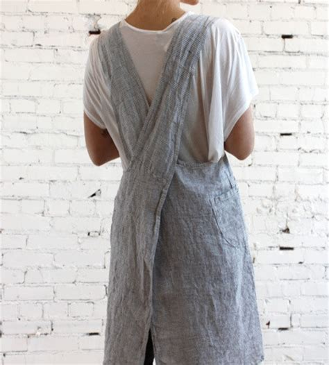 pattern for french apron french linen striped apron my style pinterest