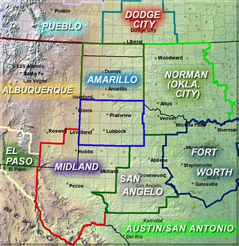 map of midland texas and surrounding areas nws lubbock tx offices
