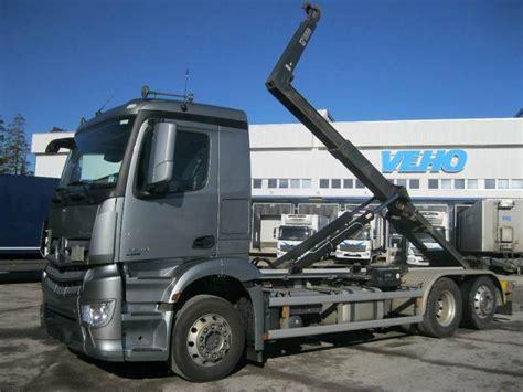 Sale Kran Tembok Toto T 26 13 mercedes antos 2543 l multilift koukkulaite skip loader truck from finland for sale at