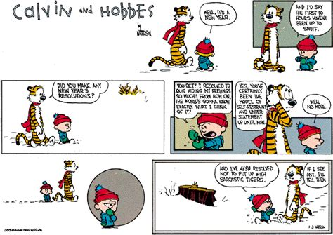 new year comic strips calvin and hobbes comic strips calvin new year