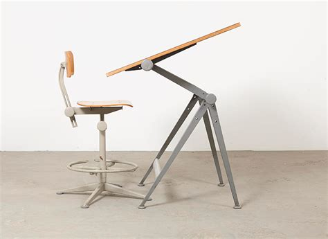 Drafting Table Chair Vintage Drafting Table Chair By Wim Rietveld Friso Kramer For Ahrend De Cirkel For Sale At