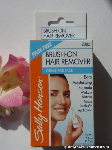 sally hansen brush on hair remover creme for крем для удаления волос на лице с кисточкой аппликатором