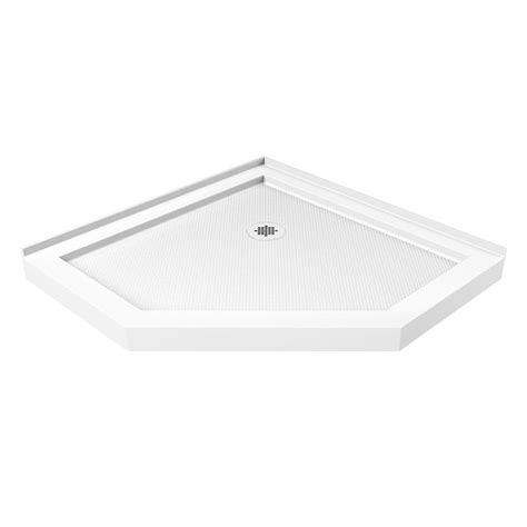 Corner Shower Pan by Shop Dreamline Slimline 36 In L X 36 In W White Acrylic