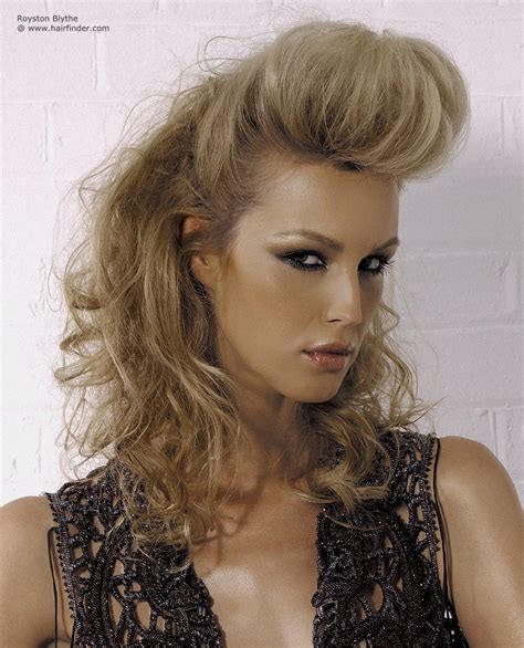 hairstyles for long hair quiff long hairstyle with a high quiff