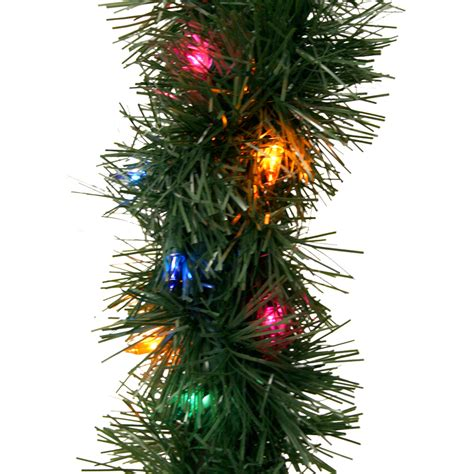 outdoor pre lit garland shop ge 18 ft pre lit indoor outdoor pine artificial