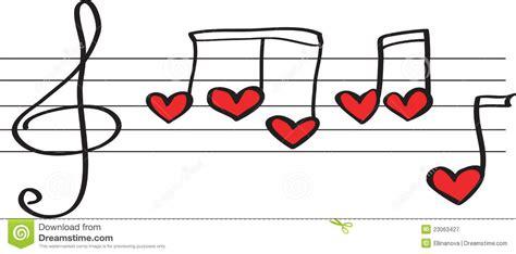 imagenes musicales para facebook notas en corazones de la forma fotograf 237 a de archivo libre