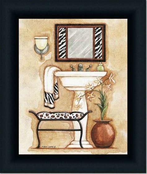 Adorable wall art for your zebra print bathroom stylish and light