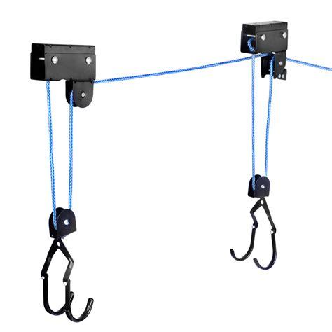 Bike Rack Pulley System by New Kayak Hoist Ceiling Rack Bike Lift Pulley System