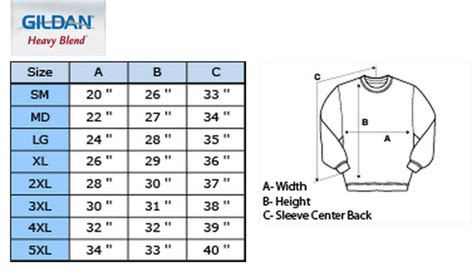 bench size guide bench clothing size chart gildan sweatshirt sizing chart