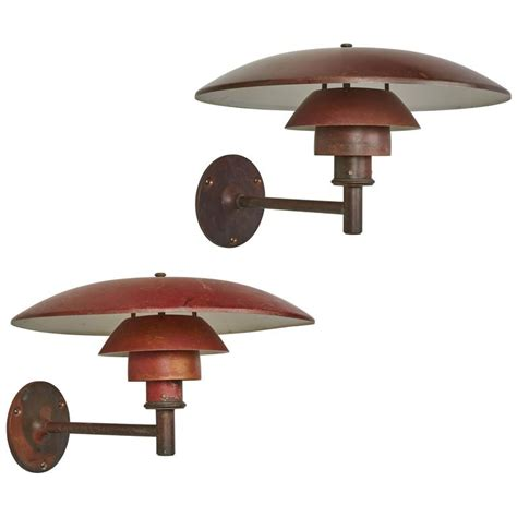 Louis Poulsen Outdoor Lighting Exterior Copper Sconces By Poul Henningsen For Louis Poulsen For Sale At 1stdibs