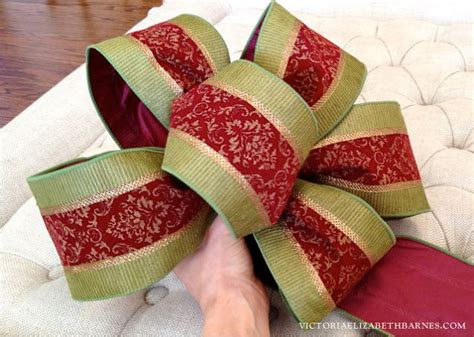 how to make a bow step by step for christmas decorating