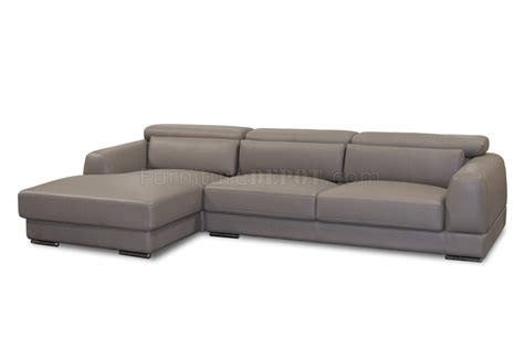 mink brown bonded leather modern chicago sectional sofa