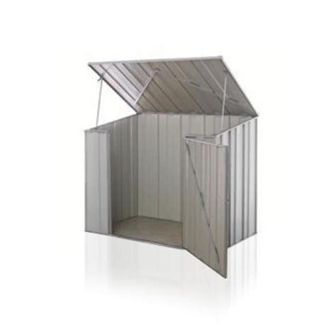 Pool Covers Shed by Details About Storemate 53 1 76m X 1 07m Storage Unit Zinc