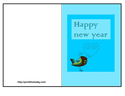 new year template printable free printable happy new year cards