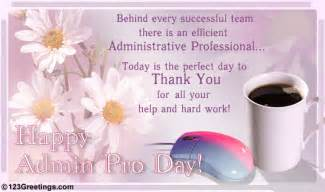 thank an admin pro free happy administrative professionals day 174 ecards 123 greetings
