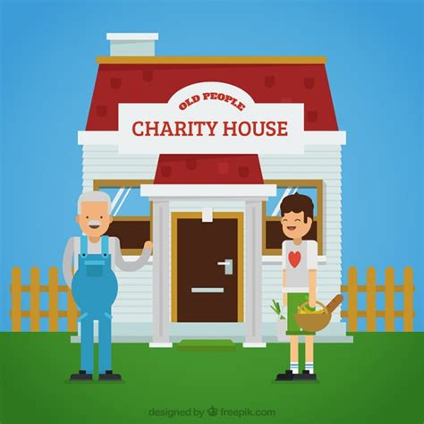 house of charity charity house background vector free download