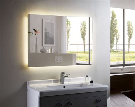 bathroom backlit mirror led backlit bathroom mirror doherty house gorgeous