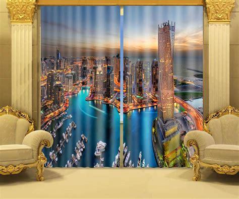 photo print curtains photo print stereoscopic 3d curtains dubai maritime night