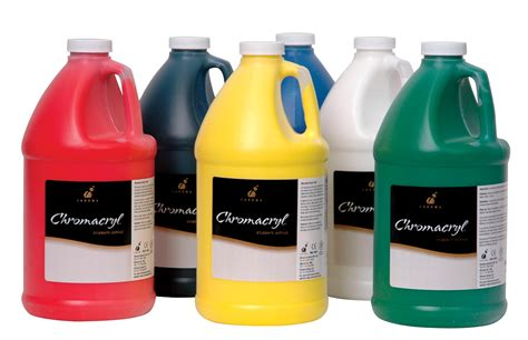 chromacryl premium students acrylic paint set 0 5 gal jug assorted original ebay