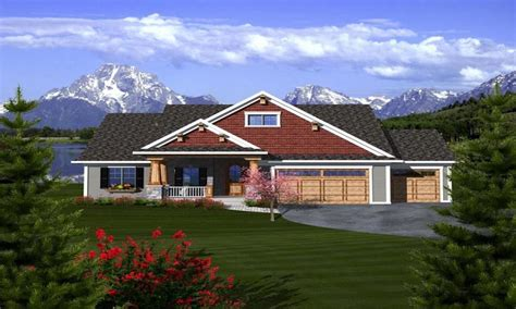 ranch house plans with 3 car garage style house design and craftsman ranch house plans with 3 car garage craftsman