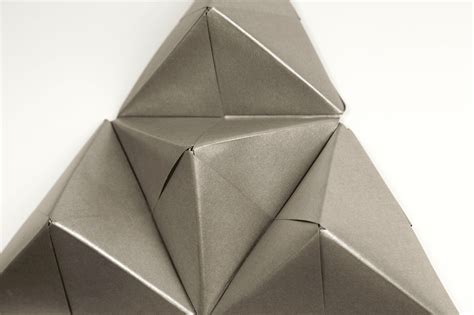 Geometric Origami - geometric origami wall with sonobe units