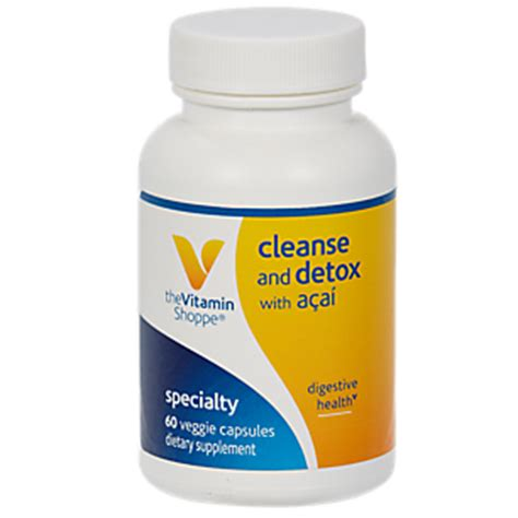 Vitamin Shoppe Detox Reviews by Product Image For Acai Cleanse And Detox 60 Veggie Caps