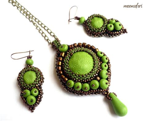 bead sets jewellery embroidery jewelry makaroka