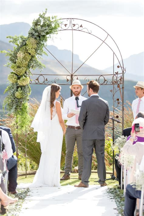 Wedding Arch Is Called by Naturally Franschhoek Wedding