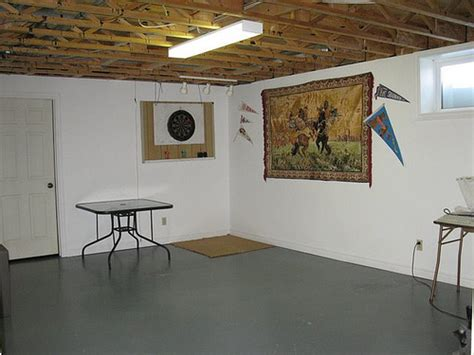 semi finished playroom in basement flickr photo