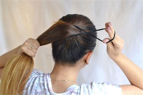 cara membuat sanggul pramugari berambut pendek cara membuat sanggul pramugari langkah langkah membuat