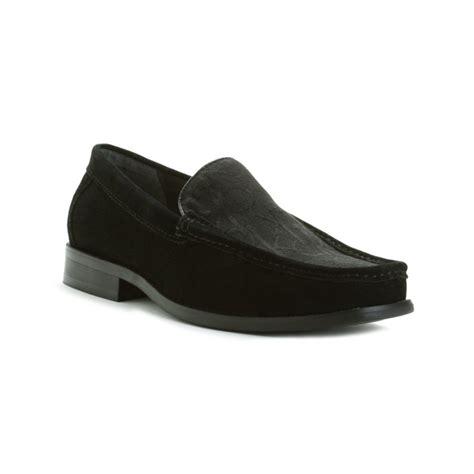 calvin klein neil loafer calvin klein neil logo slip on loafer in black for