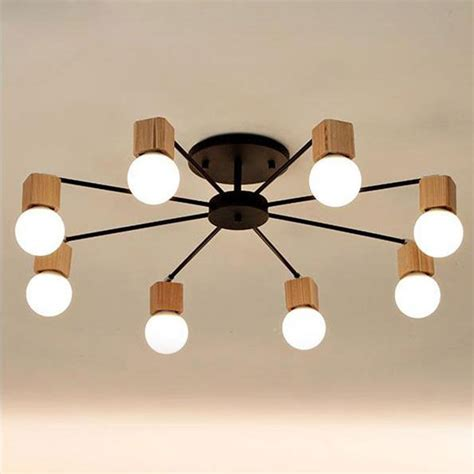 Wood Ceiling Lighting Ac100 240v Wood Led Ceiling Lights Living Room Bedroom Children S Room Ceiling L Modern
